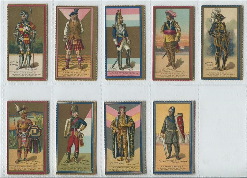 N303 Mayo Tobacco Costumes of Warriors complete set of (19)