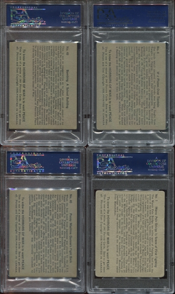 V278 O-Pee-Chee Horrors of War PSA-Graded lot of (4) with tough Card #1
