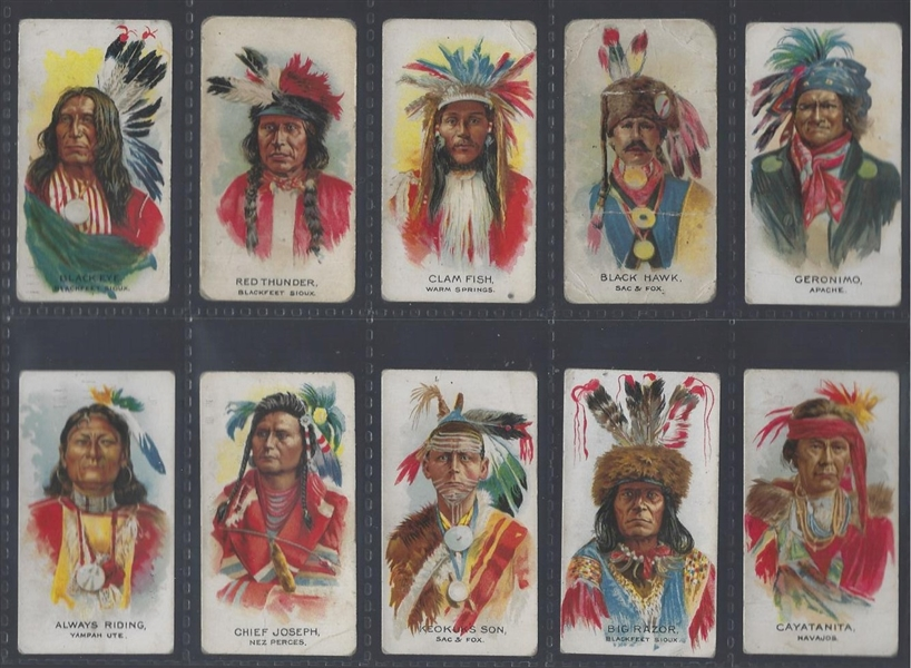 V118 Ganong Brothers Big Chief Indians Complete Set of (50) Cards