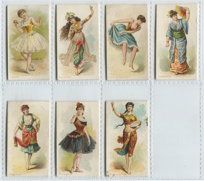 N186 Kimball Dancing Women Lot of (7) Cards