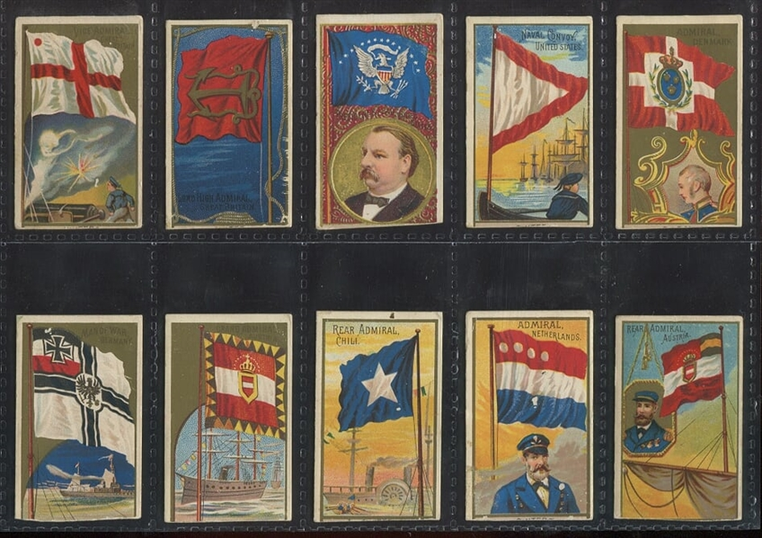 Mixed lot of (67) Allen & Ginter Flags - N6, N10 and N17