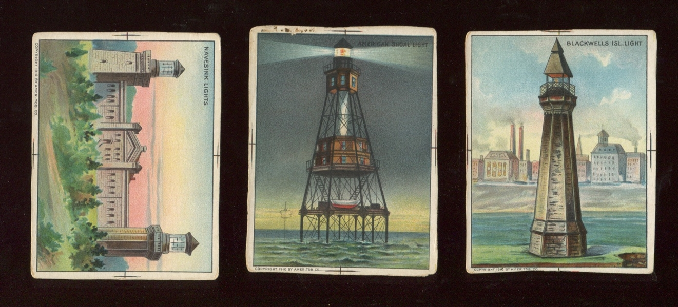 T77 Hassan Lighthouses Proof Card Lot of (3)