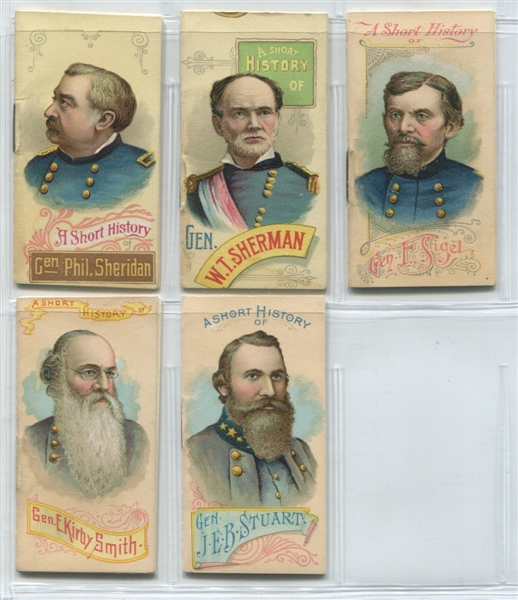 N78 Duke Tobacco Generals of the Civil War Booklet complete set of (50)