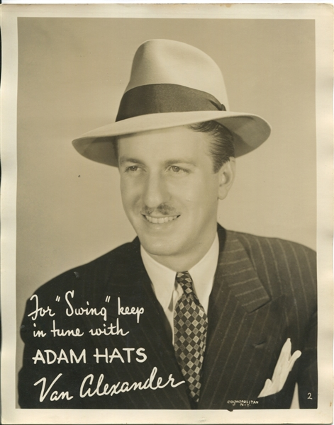 Adam's Hats lot of (3) Advertising 8x10 photos of Actors