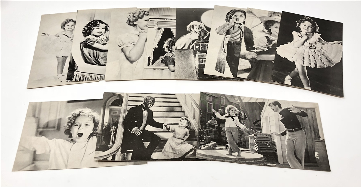 Lot of (11) Shirley Temple Exhibit-type Postcards