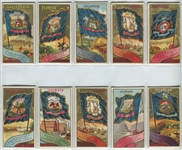 N11 Allen & Ginter State Flags lot of (10) Cards