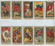 N9 Allen & Ginter Flags of Nations Lot of (10) Cards