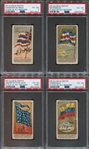 N9 Allen & Ginter Flags of Nations First Series Lot of (8) cards PSA-Graded
