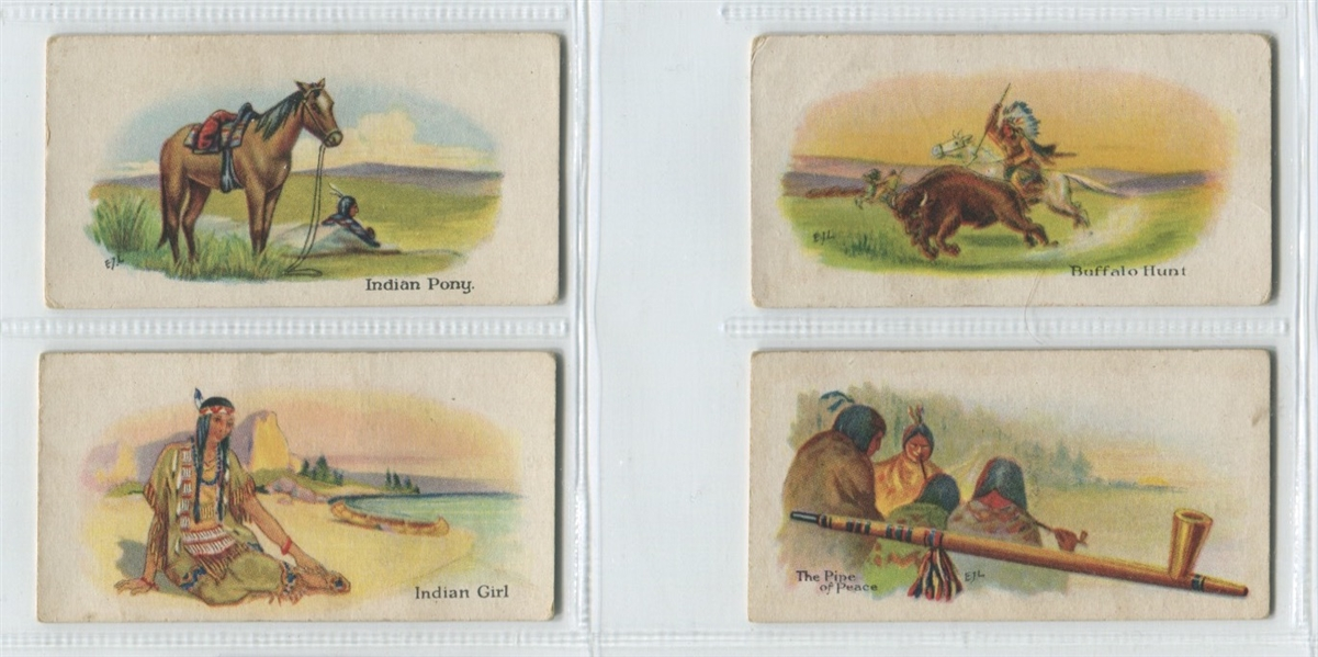V101 Willard's Indian Series lot of (19) Cards