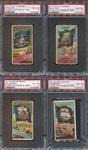 N11 Allen & Ginter Flags of Stats Lot of (4) PSA4 Graded Cards