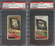 N11 Allen & Ginter Flags of States & Territories Lot of (2) PSA5-Graded Cards
