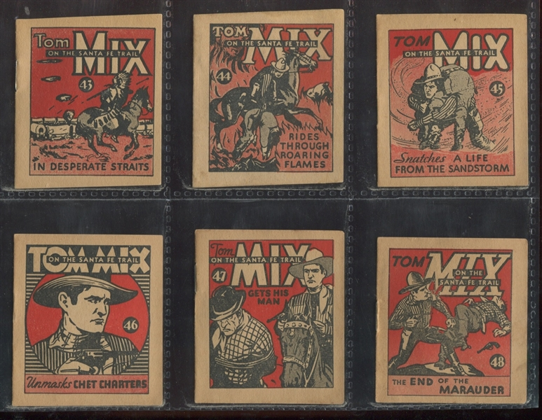 R151 National Chicle Tom Mix Booklets Difficult Complete Set of (48) Booklets