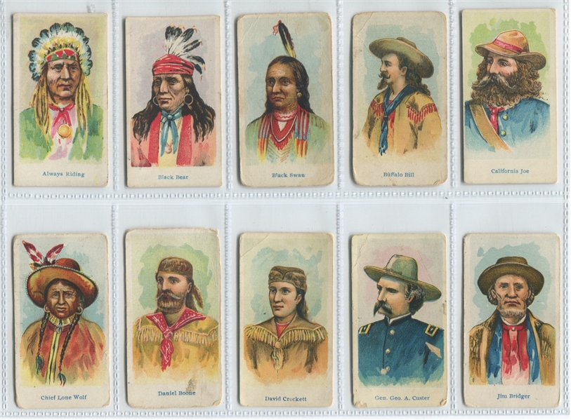 E49 American Caramel Wild West Caramels Set of (20) Cards