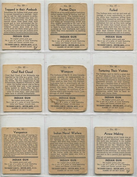 1947 R773 Goudey Indians Complete Set of (96) Cards