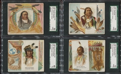 N36 Allen & Ginters Famous American Indians Complete Set of (50) Cards