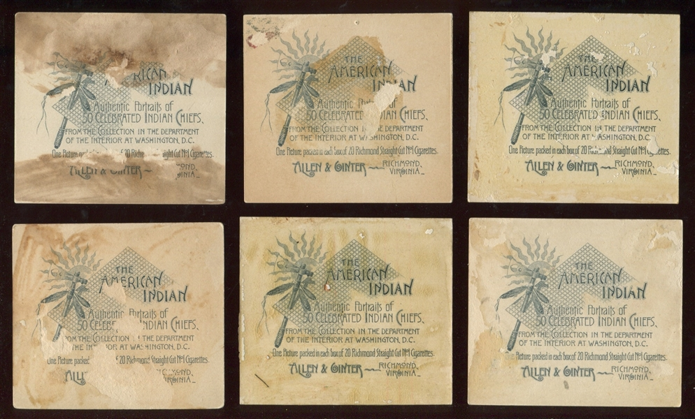 N36 Allen & Ginter's Famous American Indians Complete Set of (50) Cards