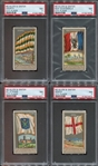 N6 Allen & Ginter City Flags Lot of (5) PSA7 cards
