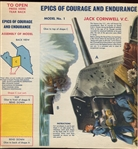 "Scott Porage Oats ""Epics of Courage and Endurance"" Cereal box Cut-Out lot of (6)"