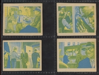 1949 Bowman America Salutes the FBI Missing Color Cards Lot of (4)