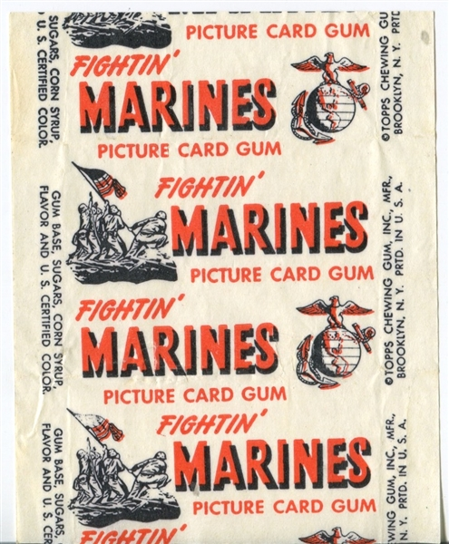 1953 Topps Fightin' Marines Wax Pack Wrapper