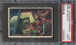 1951 Bowman Jets, Rockets and Spacemen #7 Free of Gravity PSA7