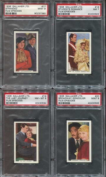 1936 Gallaher Film Episodes Complete High-Grade PSA Set of (48) Cards