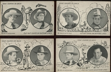 Fantastic Dual-Image 1929 Western Exhibits Collection of (57) Cards with Tom Mix and Others