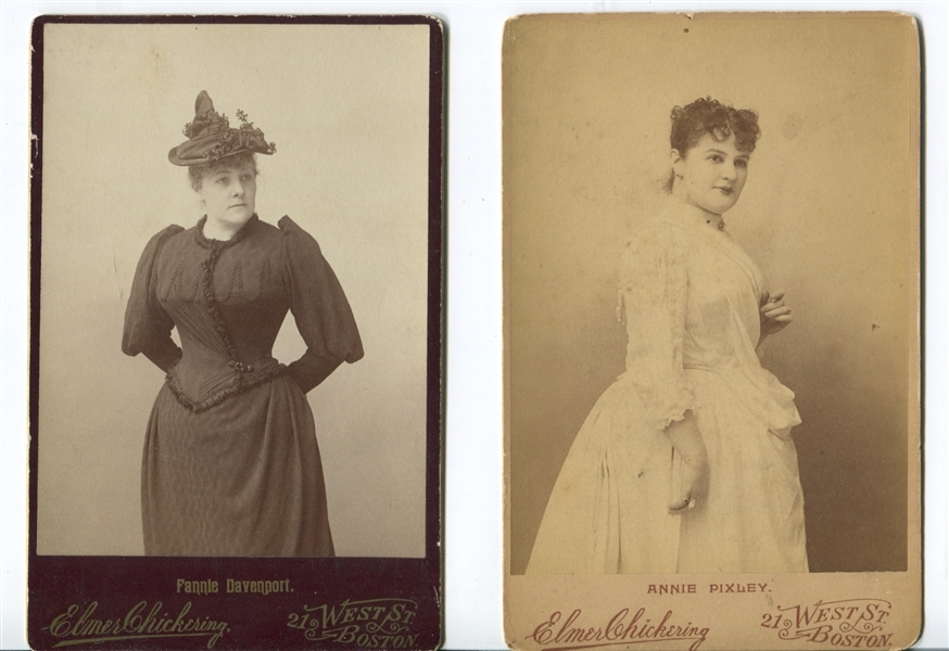 Lot of (4) Named Actor and Actress Cabinet Cards from Chickering and Sarony