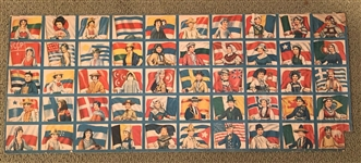R52 Baltimore Gum Flags Complete Set on Uncut Sheet