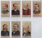 N1 Allen & Ginter American Editors Lot of (7) Cards