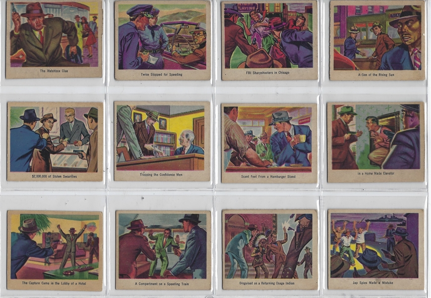 1949 Bowman Salutes the FBI Complete Set of (36) Cards