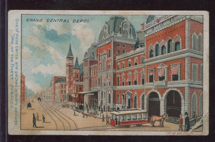 N287 Buchner Gold Coin Tobacco New York Scenes - Grand Central Depot