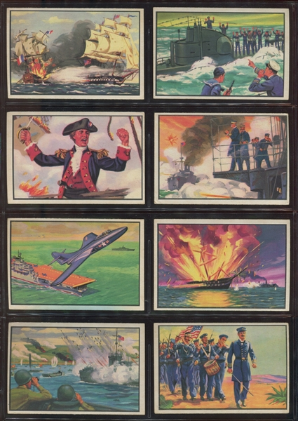 1954 Bowman Naval Victories Near Complete Set (46/48) Cards