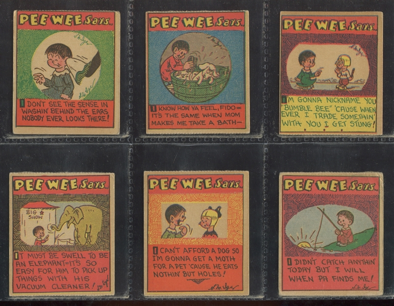 R105 Pee Wee Says Complete Strip Card Set of (24) Cards