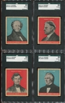 R114 U S Caramel Presidents Complete set of (30) Higher Grade Cards - Mostly Blue