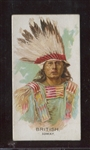 N2 Allen & Ginter Celebrated American Indians Error/Variation Card - British Ioway