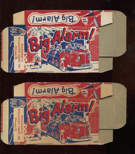 Williamson Candy Big Alarm Candy Uncut Boxes lot of (2) Tough Candy Boxes