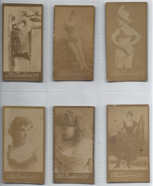 N664 Old Fashion Fine Cut Photographs and Beauties Lot of (7) Cards