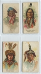 N2 Allen & Ginter American Indians Lot of (4) Cards with Geronimo and Sitting Bull