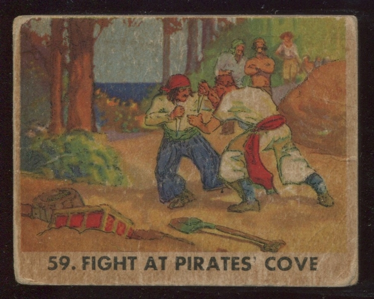 R109 Gum Inc Pirate Pictures Scarce Card #59 Fight at Pirate's Cove