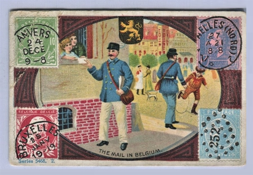 E239 Limola Gum Mail in Foreign Lands Type Card - Belgium