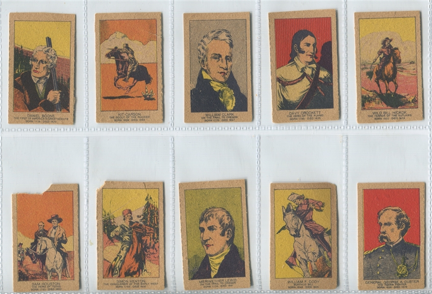 Western Strip Card 3 Line Text Complete Set of (10) Cards