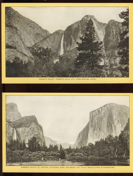 H446-13 Singer Souvenirs - Yosemite Valley Trade Cards Complete set of (10) with Original Envelope