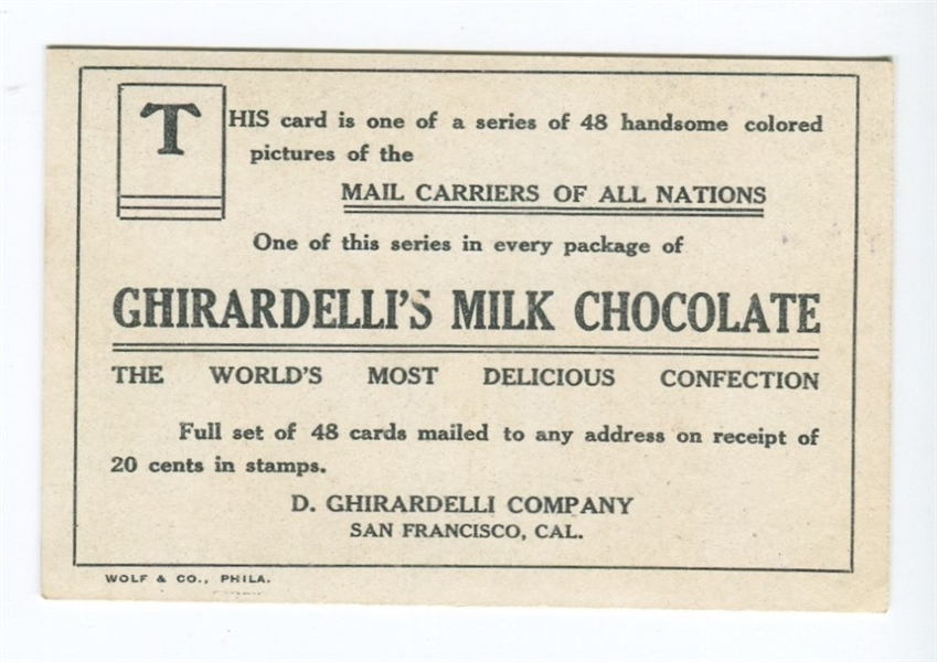 E163 Ghirardelli Chocolates Mail in Foreign Lands - South Africa