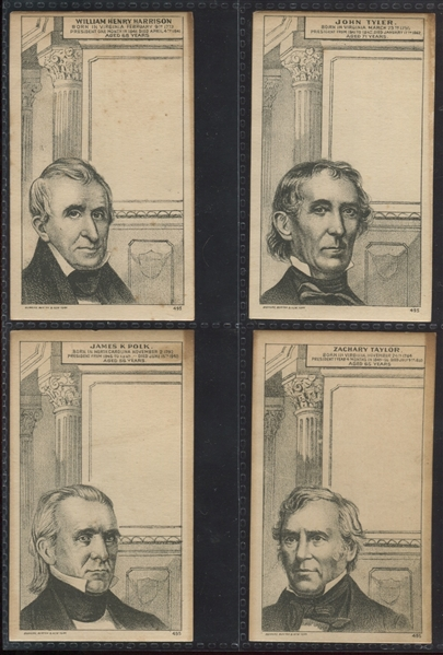 H602 Blank Stock Presidents Trade Card Complete Set of (21) Cards