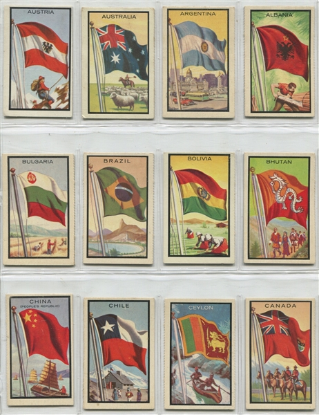 1963 Topps Flag Midgee Complete Set of (99) Cards