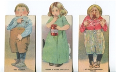 Lot of (3) Different Bread Company Metamorphic Paper Dolls