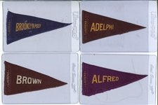 S28 Laurens Tobacco College Pennants Scarce Near Set (40/51)