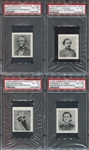 E-UNC American Chicle Confederate Portraits Lot of (7) PSA6 EXMT Graded Cards