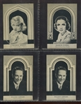 R93-A Movie Stars (Uncut) Lot of (4) Very Scarce Cards